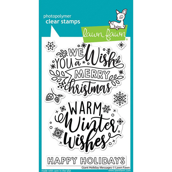 Giant Holiday Messages, Lawn Fawn Clear Stamps -