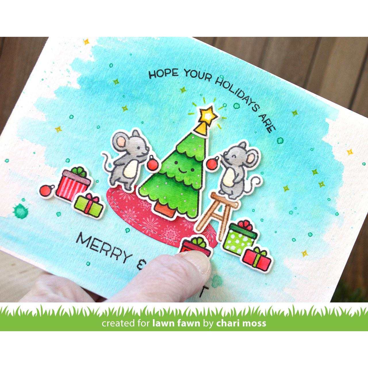 Merry Mice, Lawn Fawn Clear Stamps -