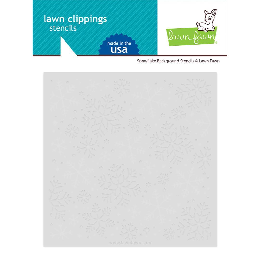 Snowflake Background, Lawn Fawn Stencils -