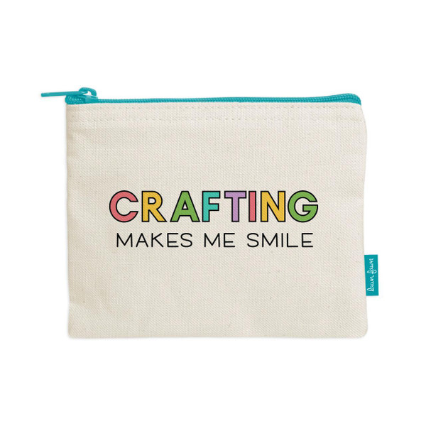 Crafting Makes Me Smile, Lawn Fawn Zipper Pouch -