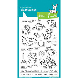 You Autumn Know, Lawn Fawn Clear Stamps -