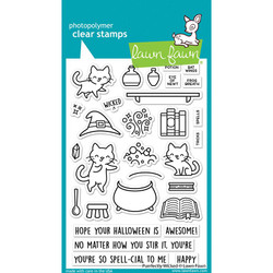 Purrfectly Wicked, Lawn Fawn Clear Stamps -