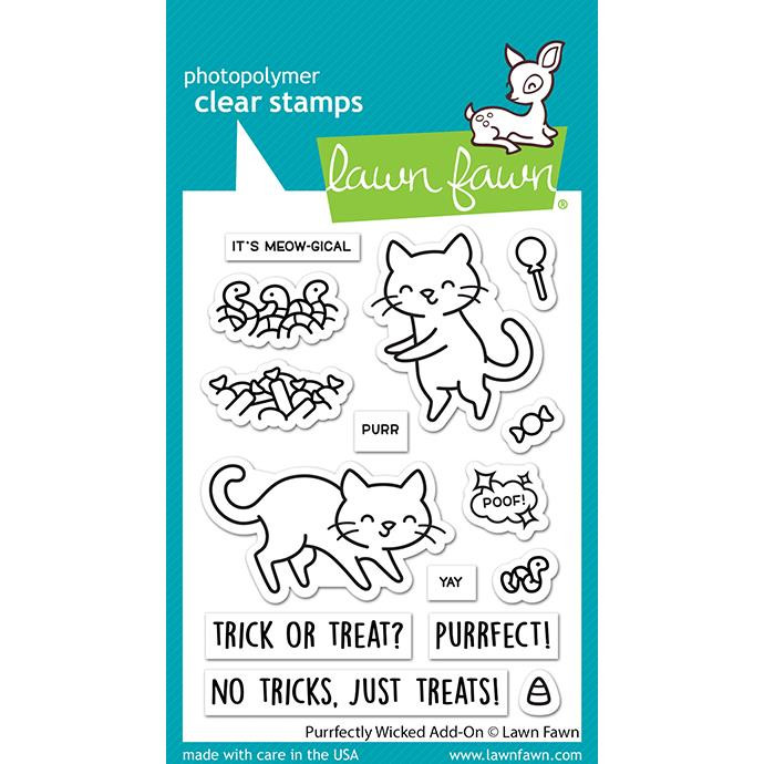 Purrfectly Wicked Add-On, Lawn Fawn Clear Stamps -
