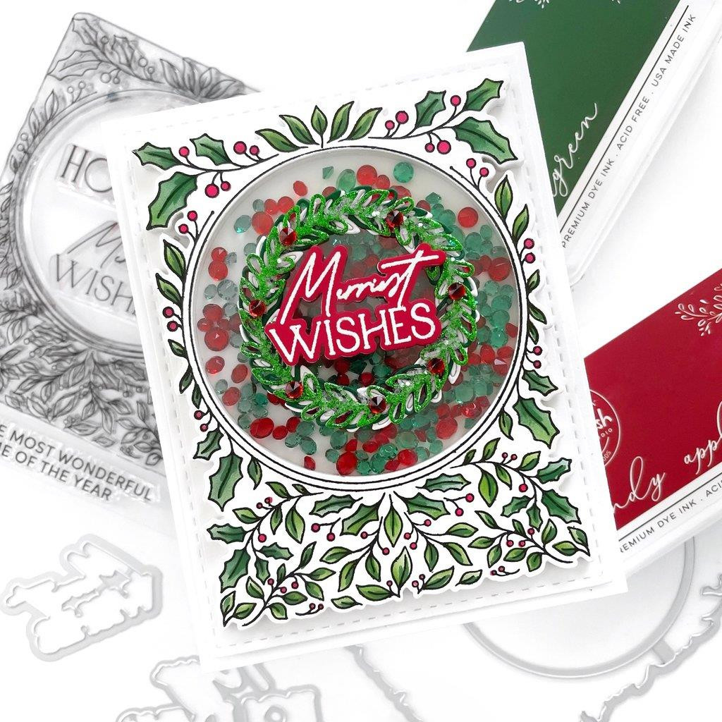 Happy Holidays Circle Frame, Pinkfresh Studio Dies -