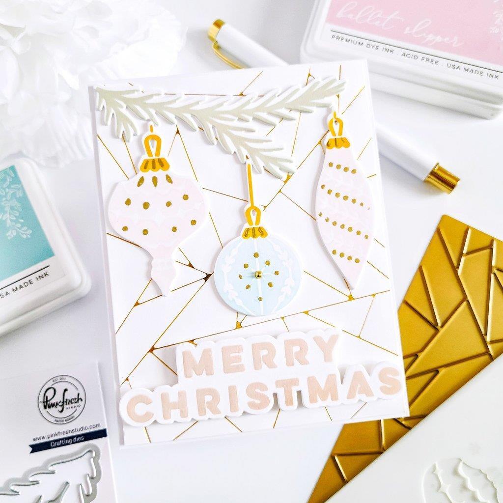 Holiday Ornaments, Pinkfresh Studio Dies -