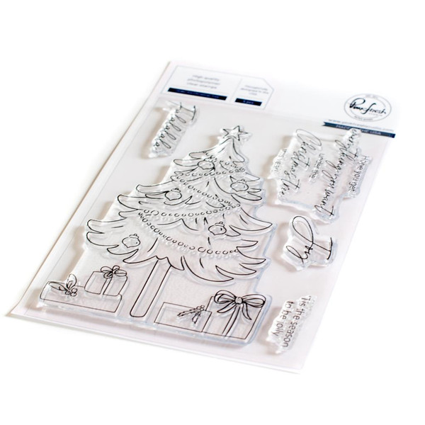 Under the Christmas Tree, Pinkfresh Studio Clear Stamps -