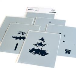Under the Christmas Tree, Pinkfresh Studio Stencils -