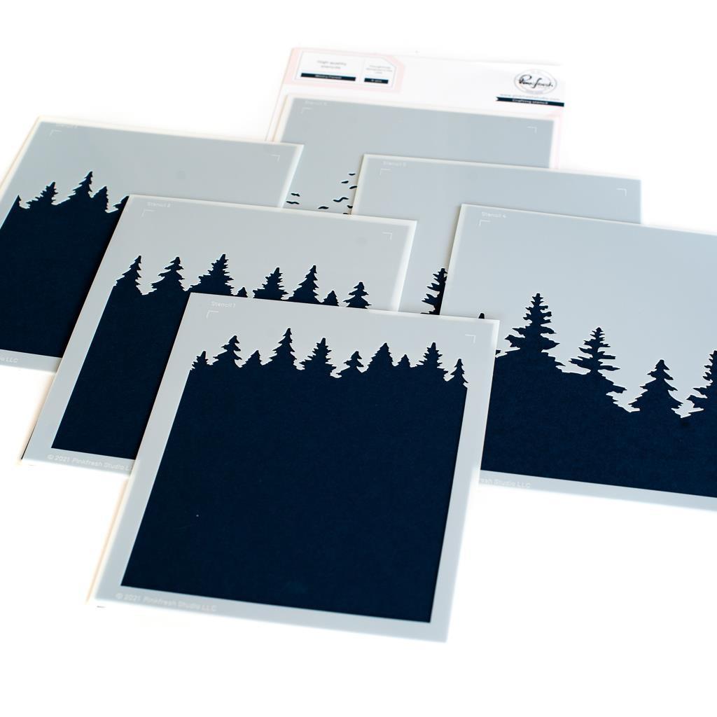 Wintry Forest, Pinkfresh Studio Stencils -