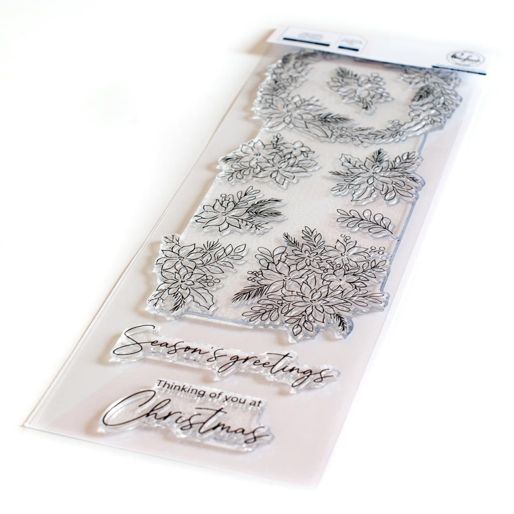 Poinsettia, Pinkfresh Studio Clear Stamps -
