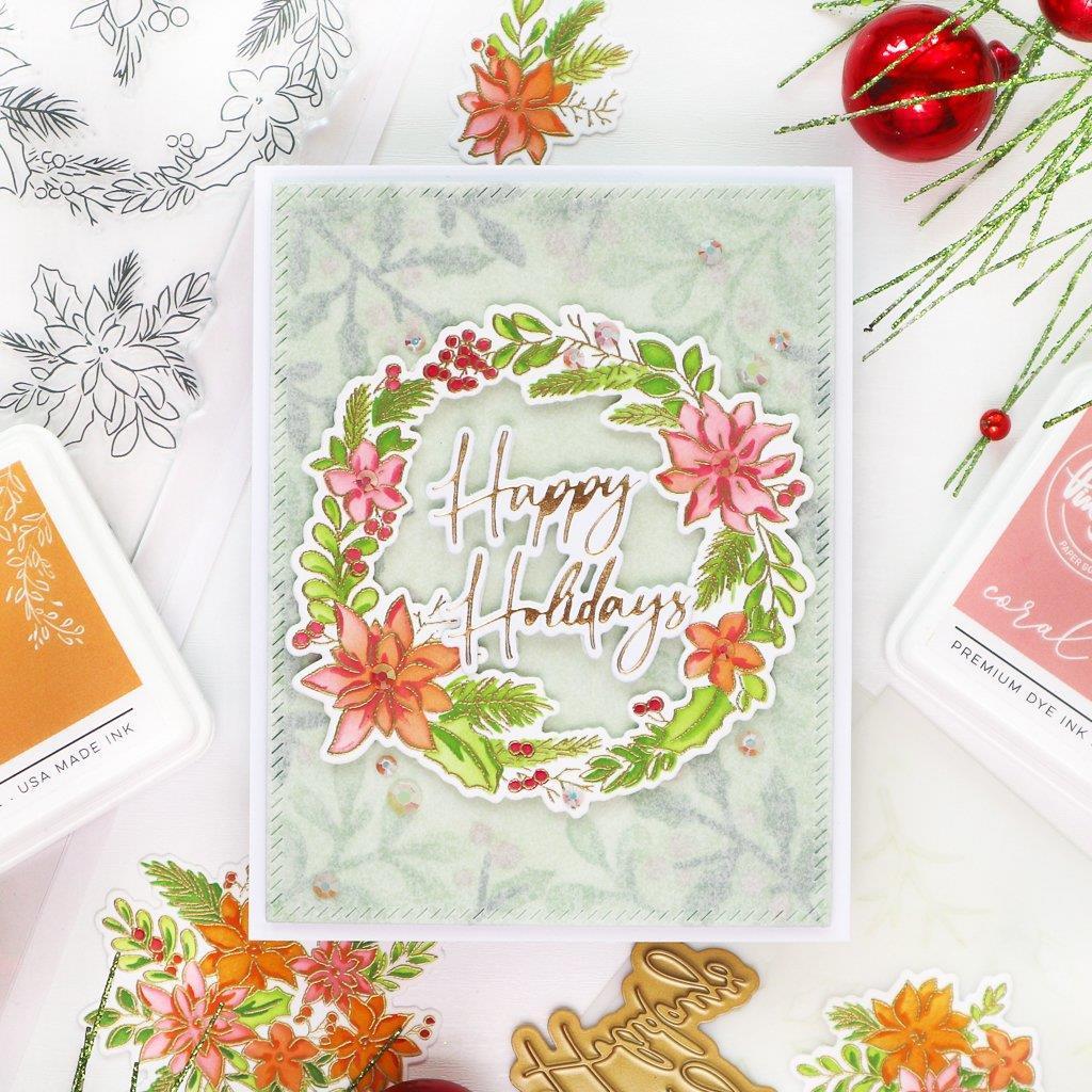 Poinsettia, Pinkfresh Studio Stencils -