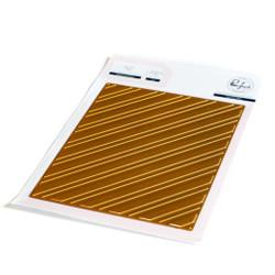 Diagonal Stripes, Pinkfresh Studio Hot Foil Plates -