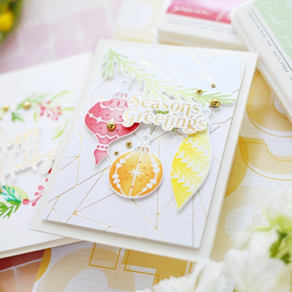 Abstract Triangles, Pinkfresh Studio Hot Foil Plates -