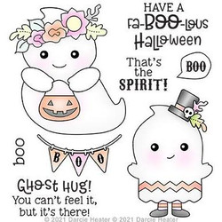 Ghost Hug, Darcie's Clear Stamps -