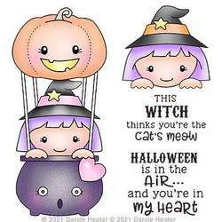 Halloween in the Air, Darcie's Clear Stamps -