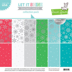 Let It Shine Snowflakes, Lawn Fawn Collection Pack -