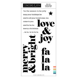Big On Christmas, Concord & 9th Clear Stamps -