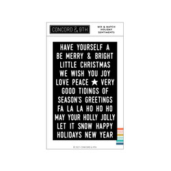 Mix & Match Holiday Sentiments, Concord & 9th Clear Stamps -
