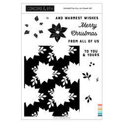 Poinsettia Fill-in, Concord & 9th Clear Stamps -