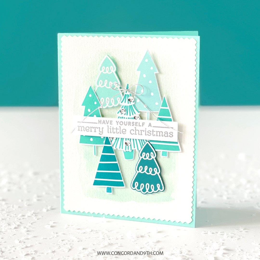 Tiny Trees Turnabout, Concord & 9th Clear Stamps -