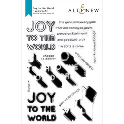 Joy to the World Typography, Altenew Clear Stamps -
