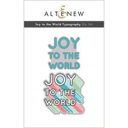 Joy to the World Typography, Altenew Dies -