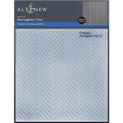 Herringbone Tiles 3D, Altenew Embossing Folder -