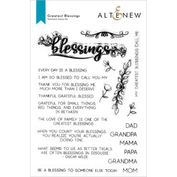 Greatest Blessings, Altenew Clear Stamps -