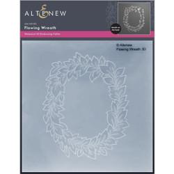 Flowing Wreath 3D, Altenew Embossing Folder -