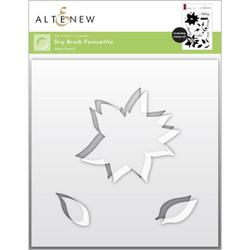 Dry Brush Poinsettia, Altenew Mask Stencil -
