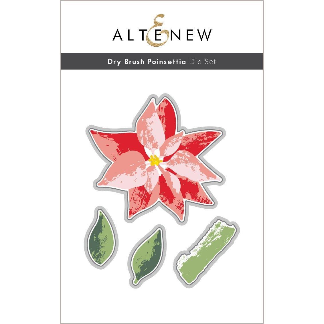 Dry Brush Poinsettia, Altenew Dies -