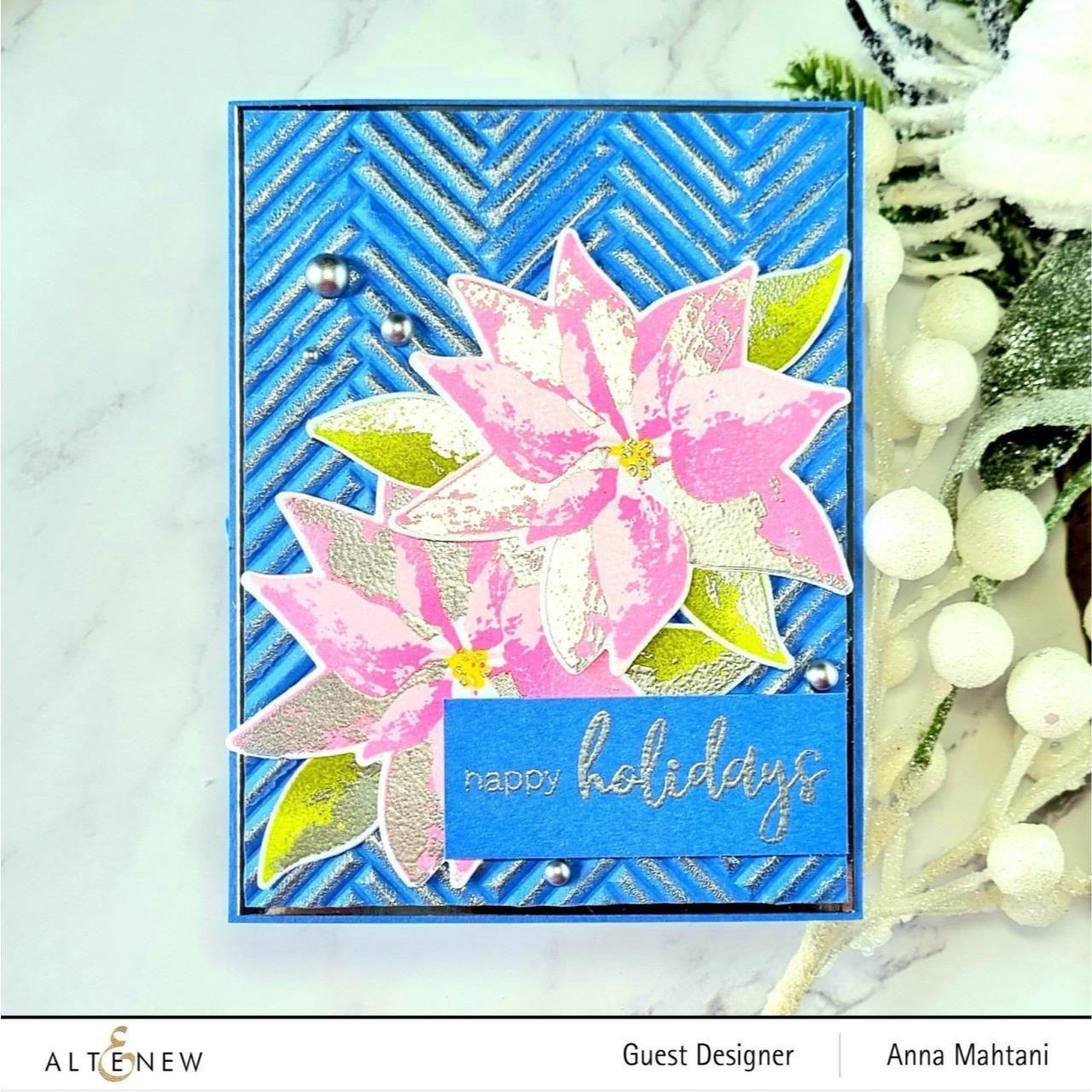 Dry Brush Poinsettia, Altenew Clear Stamps -