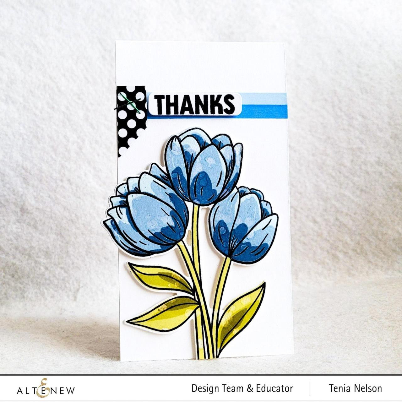 Cartoon Tulips, Altenew Clear Stamps -