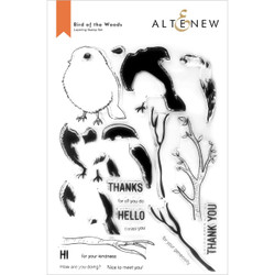Bird of the Woods, Altenew Clear Stamps -