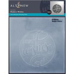 Modern Wishes, Altenew Debossing Folder -