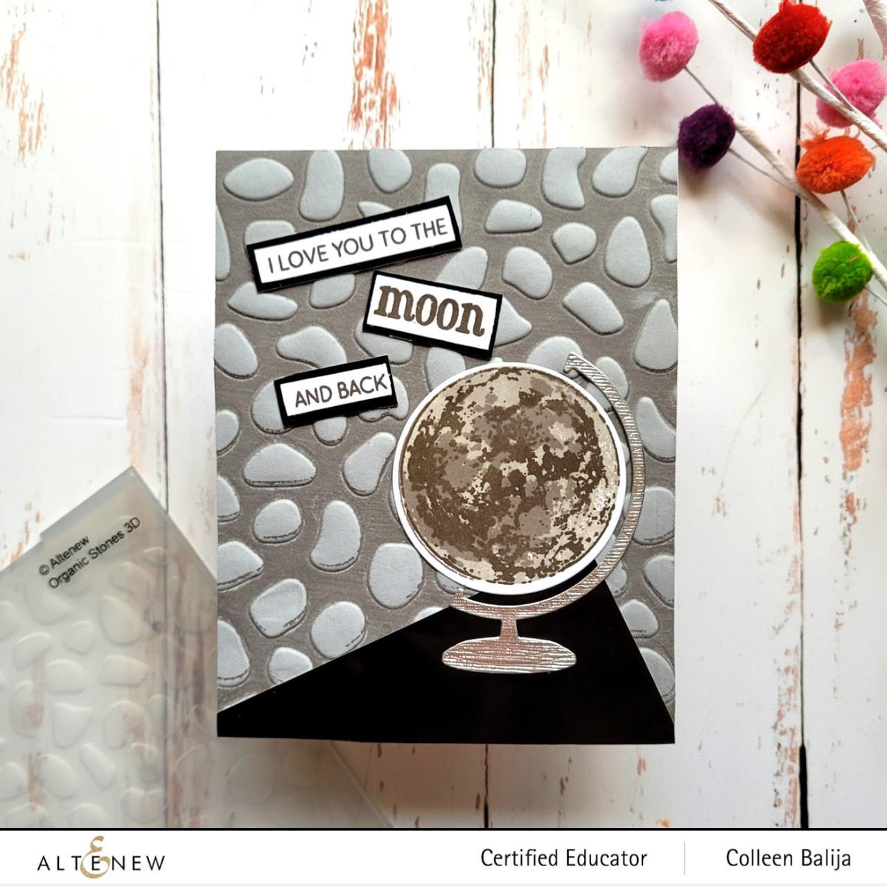 Organic Stones 3D, Altenew Embossing Folder -
