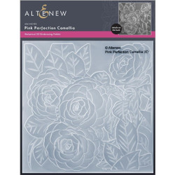 Pink Perfection Camellia 3D, Altenew Embossing Folder -