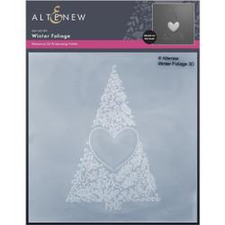 Winter Foliage 3D, Altenew Embossing Folder -