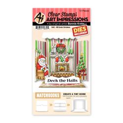 Matchbooks Santa Christmas, Art Impressions Clear Stamps -