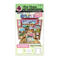Matchbooks Garden, Art Impressions Clear Stamps -