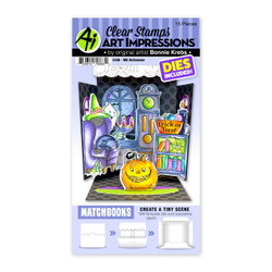Matchbooks Halloween, Art Impressions Clear Stamps -