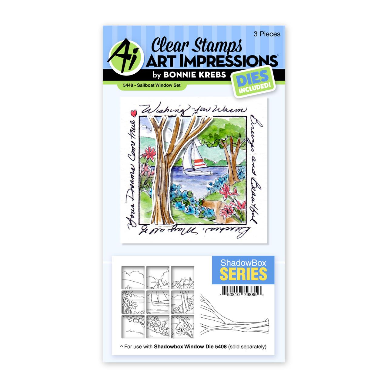 Sailboat Window, Art Impressions Clear Stamps -