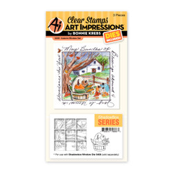 Autumn Window, Art Impressions Clear Stamps -
