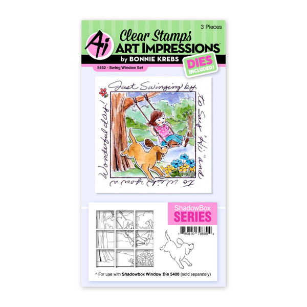 Swing Window, Art Impressions Clear Stamps -