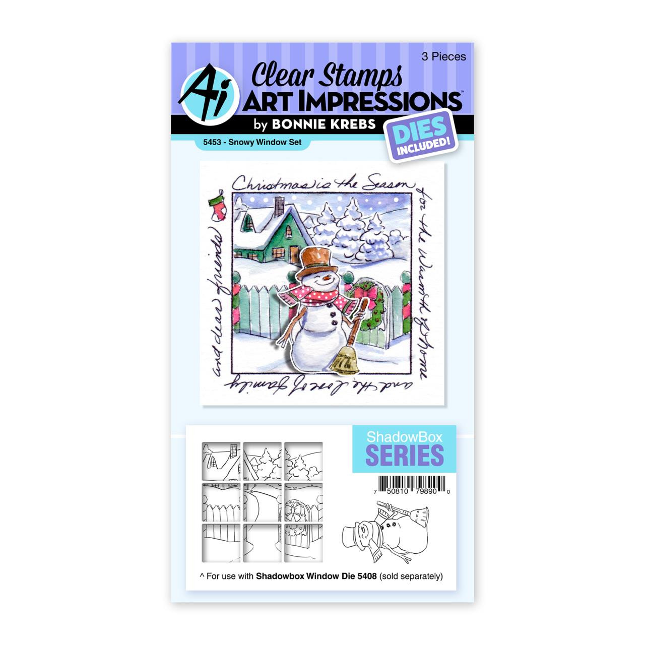 Snowy Window, Art Impressions Clear Stamps -