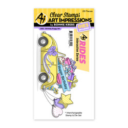 Birthday Buggy, Art Impressions Clear Stamps -