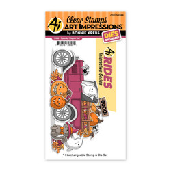 Spooky Wagon, Art Impressions Clear Stamps -