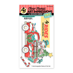 Christmas Truck, Art Impressions Clear Stamps -
