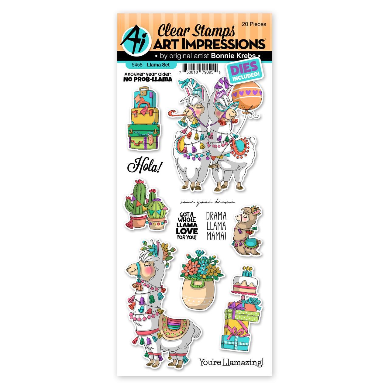Llama, Art Impressions Clear Stamps -