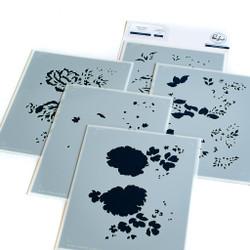 Lush Peonies Layering, Pinkfresh Studio Stencils -
