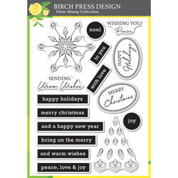 Christmas Mandala, Birch Press Design Clear Stamps -